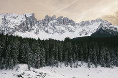 Karersee, Italy. Mountains, December 2012.