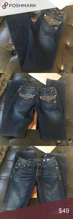 Miss Me jeans Like new worn a couple times Miss Me jeans size 27 inseam 34 Miss Me Jeans Boot Cut