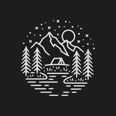 Work by @liamashurst ・・・ For sale! ⛰ Quite a few new followers over the last 12 hours so hey, thanks for following! ✌️ #graphicdesign #design #illustration #art #artwork #drawing #handdrawn #tattoo #camping #outdoors #travel #explore #nature #adventure #slowroastedco