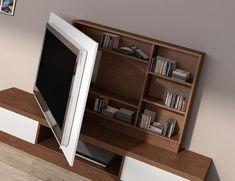 En los catálogos de salones y comedores de BaixModuls podrás encontrar diferentes muebles y paneles TV giratorios que te permitirán ver bien la televisión