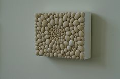 Ceramic and Wood Wall Sculpture by Tina Schowalter