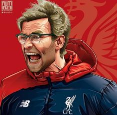 Liverpool Klopp, Liverpool Fc, Portrait Illustration, Digital Illustration, Fifa 2017, Funny Caricatures, Football Art, Football Pictures, Fifa World Cup