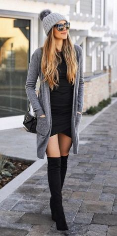 40 Comfy Winter Fashion Outfits for Women in This Year - - Source by knee high boots outfit