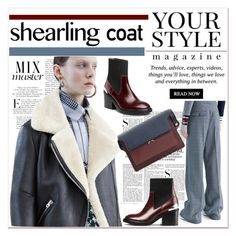 """""""Sweet Shearling Coats"""" by spenderellastyle ❤ liked on Polyvore featuring Libertine, Pussycat, Acne Studios, Vanity Fair, Marni and shearlingcoat"""