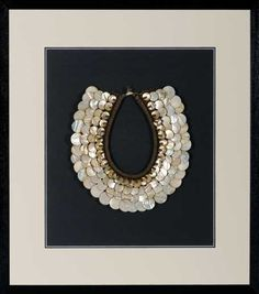 Baru Handmade tribal necklace with luminous shells and beads. My favourite
