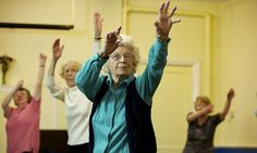 She is 93 and offers a tea break halfway through class.