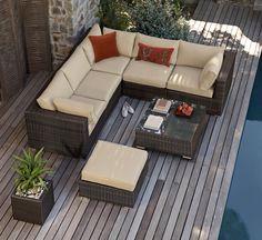 Buy Monaco Brown Modular Corner Set from the Next UK online shop