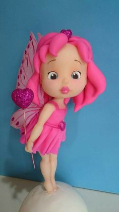 Porcelana fría - Cold porcelain - Sugar paste - Fondant - Polymer clay - Cake Topper - Fairy