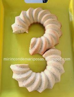 mi rincón de mariposas: Tarta con forma de número 3 Banana, Fruit, Ethnic Recipes, Party, Food, Kitchen Nook, Butterflies, Shapes, Pastries