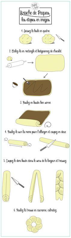 Pâques: brioche chocolatée & feuilletée +  DIY pour la chasse aux oeufs