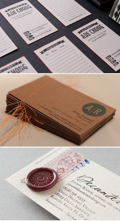 Stamped, stitched and sealed – business cards with a difference