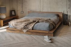 Wood On The Floor Bed Frame