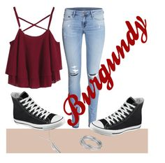 """""""Burgundy"""" by girlthingss on Polyvore"""