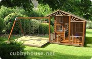 Country Cottage Cubby House Australian-Made Backyard Playground Equipment DIY Kits