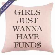 """Add a touch of typographic flair to your sofa or settee with this bold burlap pillow. Made in the USA.   Product: PillowConstruction Material: BurlapColor: Pink and blackFeatures:  Zipper enclosureMade in the USAHandmade by TheWatsonShop Dimensions: 16""""Cleaning and Care: Spot clean"""