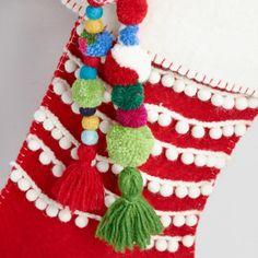 Red Felt Stocking with Tassels - v2 Wool Felt, Felted Wool, Felt Stocking, Christmas Stockings, Christmas Ornaments, Red Felt, Christmas 2019, Tassels, Xmas