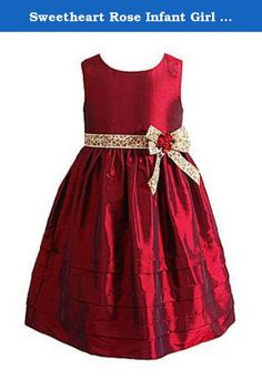 Sweetheart Rose Infant Girl Red Satin Party Holiday Dress Leopard Accent 6-9m. This beautiful red satin baby party dress has a pretty gold leopard print & red rosette accent for an extra pretty look. It is so pretty, you will want her to wear it all year long. Size: Infant Girls Sizes 2 Piece Set: Includes dress & diaper cover Brand: Sweet Heart Rose The perfect dress for Christmas, holiday pictures, Valentines Day, or any time you want your little girl to look her very best! .