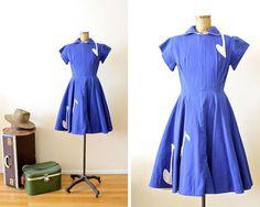 1950s dress / 50s dress / sock hop / musical notes / by MILKTEETHS #etsy #vintage #1950s #dress