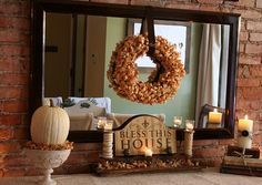 Love this Thanksgiving/Fall Decor