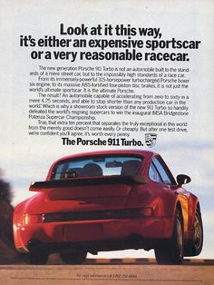 Perfect car ads = gorgeous photos + compelling words.