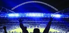 Image result for wembley stadium at night