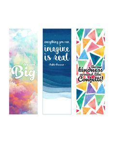 Free Printable Inspirational Quote Bookmarks - The Cottage Market