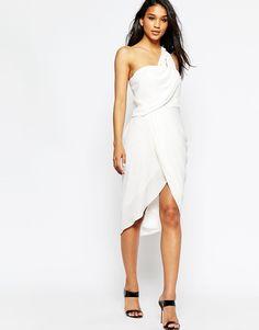 ASOS+Asymmetric+One+Shoulder+Drape+Midi+Dress // Bachelorette bash inspo
