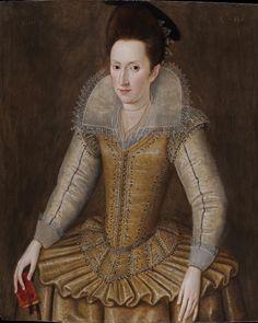 1605, Mary Senhouse (1572 - ?) by Robert Peake (1551 – circa 1619)