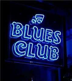 Blues Club in New Orleans on Bourbon Street, Jazz Blue Aesthetic Grunge, Aesthetic Colors, Bedroom Wall Collage, Photo Wall Collage, Love Neon Sign, Neon Signs, Blue Quotes, Jazz Club, Bourbon Street