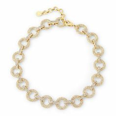 Love this Round Pave Link Necklace for $78 on C. Wonder