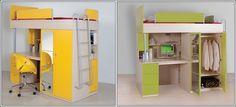 Desk Beds For Little Fellows!