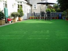 Classic Fake Grass covering old deck area