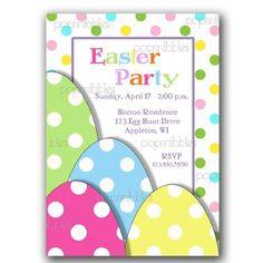Bright Eggs Easter Invite  Custom Printable by PopPrintables, $11.00