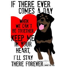 ROttweiler Digital Art Print Memorial Love Print door GoingPlaces2