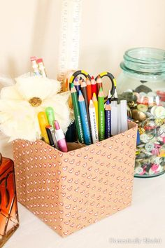 Create your own unique Craft Supply Holder by repurposing & recycling items you already have in your home! Have you gotten into the adult coloring craze?  I'm m…