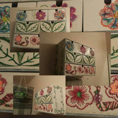 Drawers with string art
