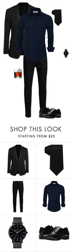 """""""Blue Button Up"""" by gone-girl ❤ liked on Polyvore featuring BOSS Black, Tommy Hilfiger, Jack & Jones, The Horse, Stacy Adams, men's fashion and menswear"""