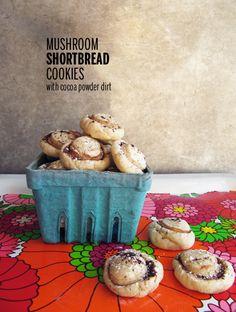 Mushroom Shortbread Cookies // take a megabite - method via @Heather Baird