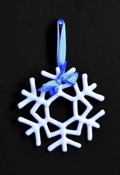 Handmade Fused Stained Glass Snowflake Ornaments Set of 4 White | eBay