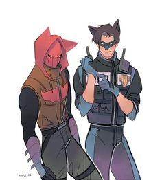 Nightwing & Red Hood. <3