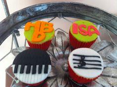 Cupcakes notas musicales