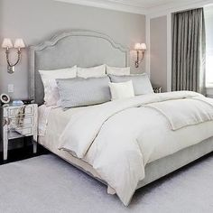 Gray Bedroom, Transitional, bedroom, GRADE Architecture & Interior Design
