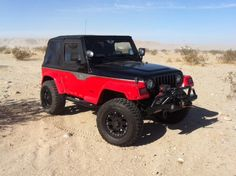 The Rampage Products Jeep Wrangler TJ out at the Ocotillo Wells SVRA for the Tierra Del Sol Desert Safari in 2012.