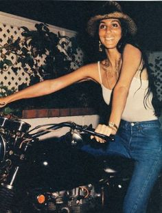 Cher on cycle (and on point).