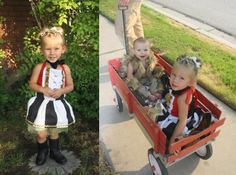 These DIY family Halloween costumes are simply amazing! Check out the post for creative costume ideas and awesome Halloween costume inspiration! Diy Baby Costumes, Family Halloween Costumes, Baby Kostüm, Creative Costumes, Flower Girl Dresses, Super, Inspiration, Videos, Illustration