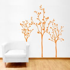 Three Little Trees - Wall Decals Stickers Graphics