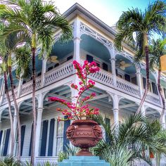 Tropical colors in Key West. Photo courtesy of eachapman4 on Instagram.