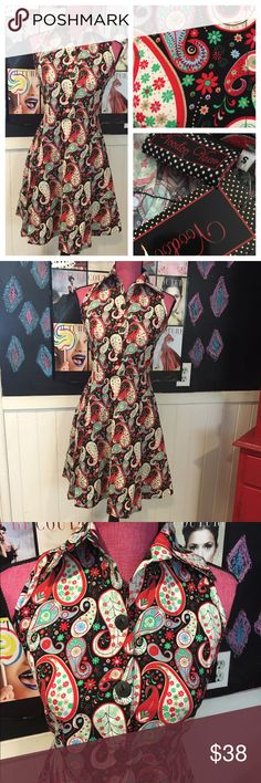 Selling this Pin up voodoo vixen paisley dress nwts szS in my Poshmark closet! My username is: cariross. #shopmycloset #poshmark #fashion #shopping #style #forsale #Voodoo Vixen #Dresses & Skirts
