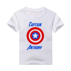 T-shirt, Custom T-Shirt, Superhero, Captain America t-shirt, Captain America #Handmade