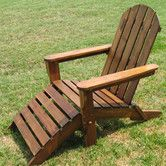 Found it at Wayfair - Adirondack Chair with Footrest